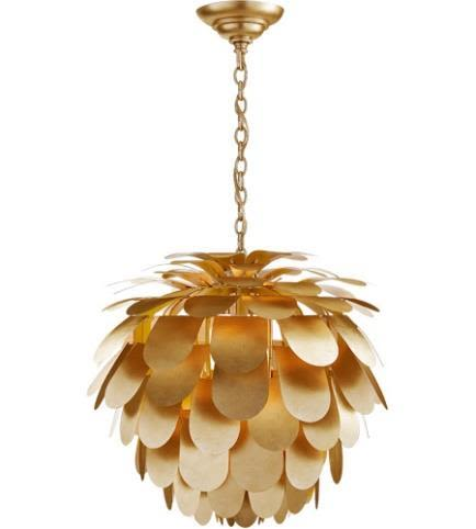 Visual comfort e.f. chapman modern cynara large chandelier in gild xqdvtr