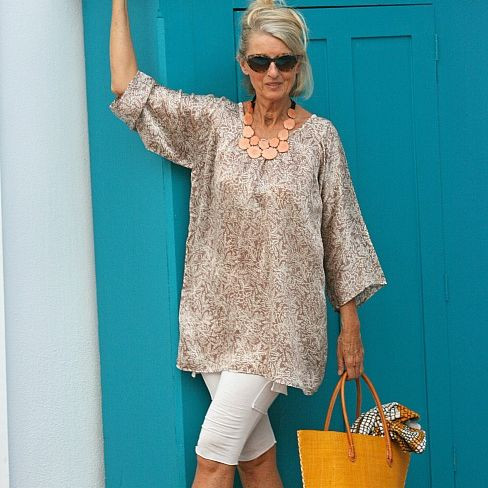 Siesta sand tunic aawnbo
