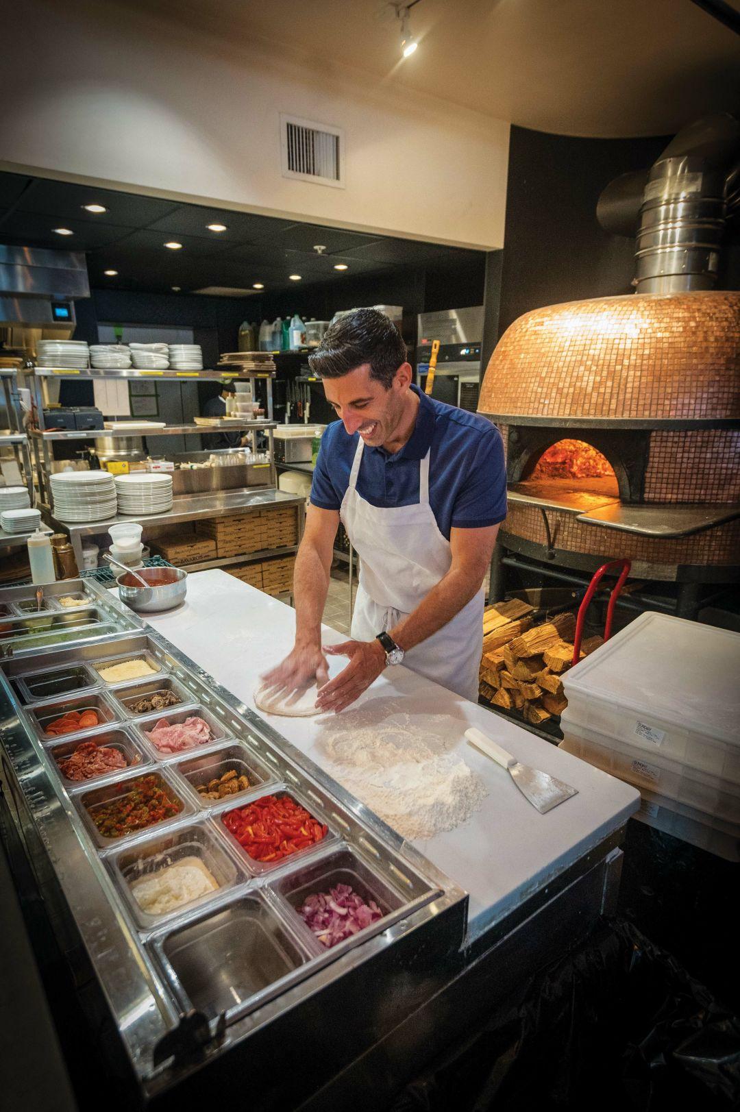 Dan Bavaro making his famous crust.