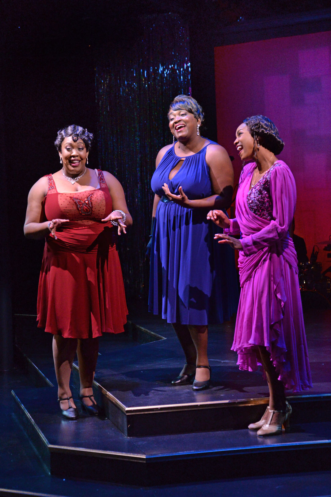 Ariel Blue, Syreeta S. Banks and JoAnna Ford during a musical number in Westcoast Black Theatre Troupe's 2017 production of Broadway in Black, which will return to WBTT's stage during its 2021-2022 season of shows