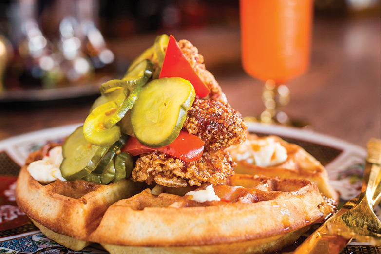 Chicken and waffles expatriate val2qv