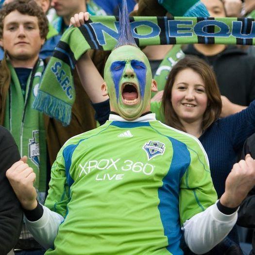Mohawk fan at sounders match xlvspj