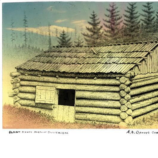 Arthur dennys cabin at alki point ca 1902 flat quny3a