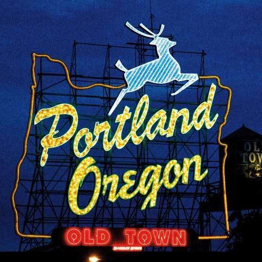 White stag portland oregon neon sign wycu5w