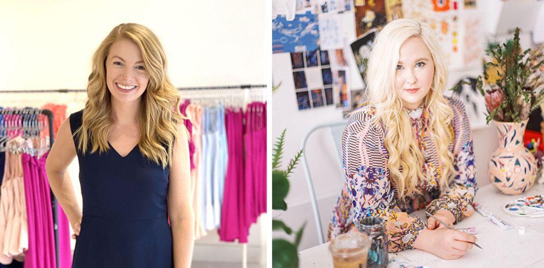 Designer Camilyn Beth Leavitt, left, and illustrator Shannon Kirsten Couch, right