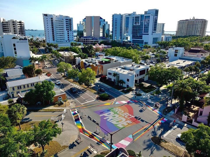 Project Pride SRQ's mural by Joey Salmon