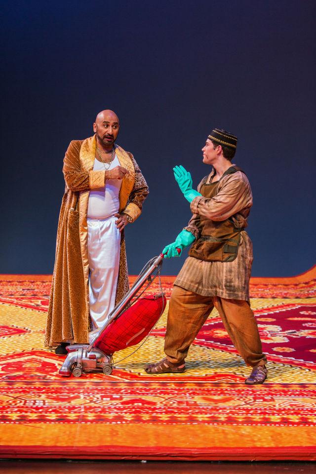 Ashraf sewailam as mustafa with jonathan johnson as lindoro qhuguv