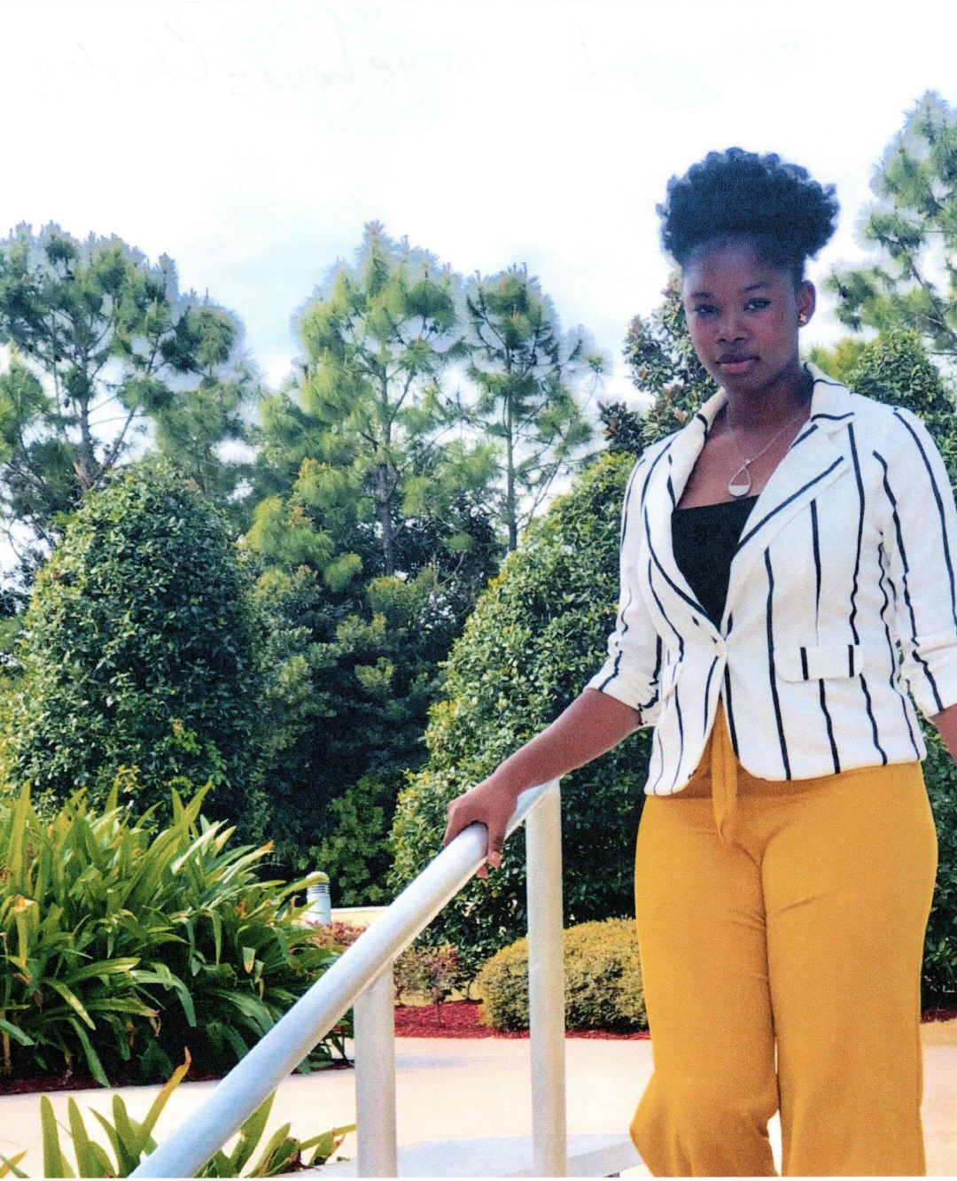 Amadine Louis Charles is one of Manatee ASALH's scholarship recipients.