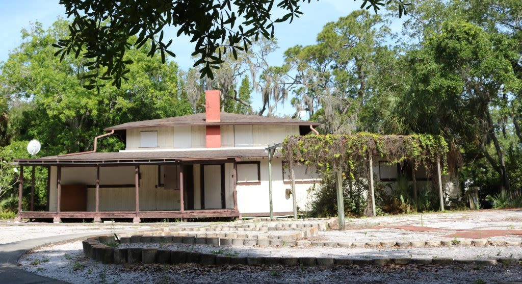 The McClellan Park School, one of the inaugural Sarasota Six to Save. The original clubhouse for the McClellan Park subdivision was built in 1916 on Native American mounds. Later it was adaptively re-used to serve as the McClellan Park School.