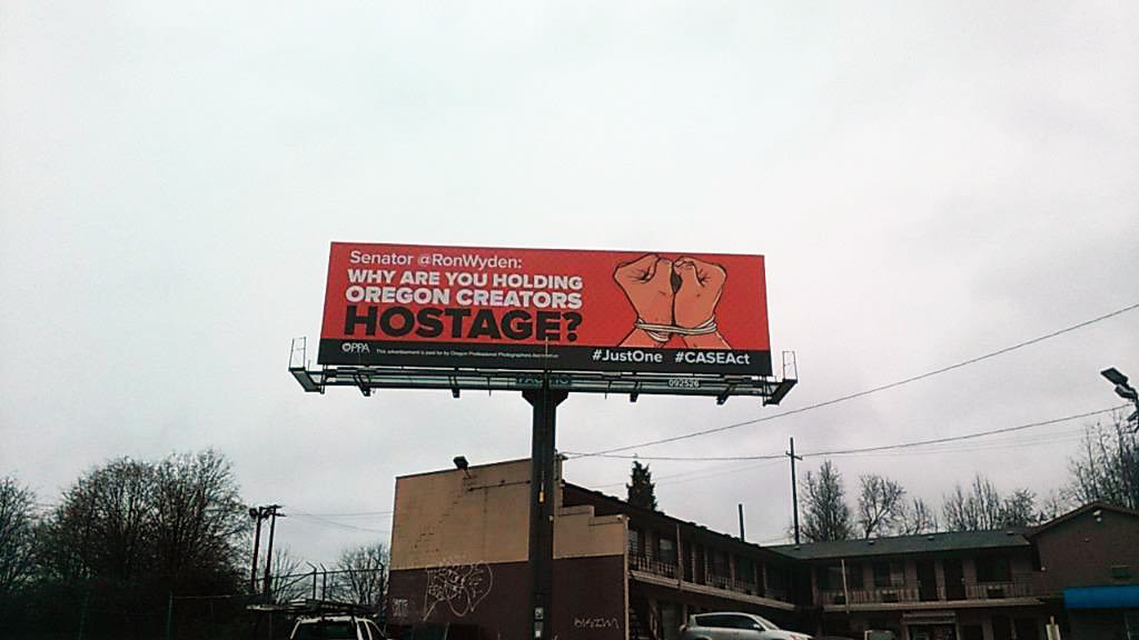 CASE Act Billboard Targets Senator Wyden