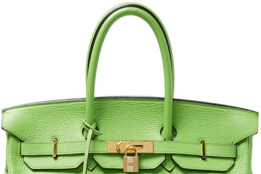 Herme s women s granny green clemence birkin 35 uzk3t0