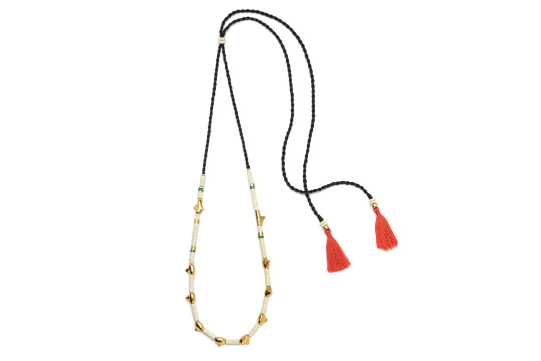 Ss16 n029 simple tooth necklace in bone owhkqe