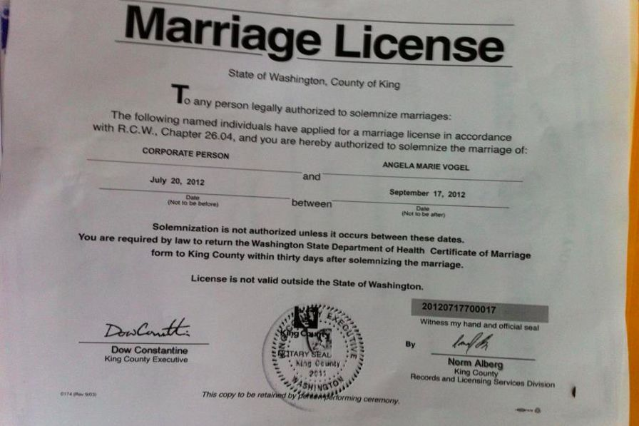 Afternoon Fizz King County Takes Back Marriage License Seattle Met