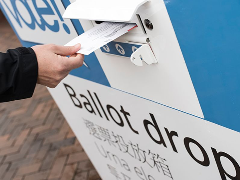 Ballot drop box king county vote elections pkgzfz