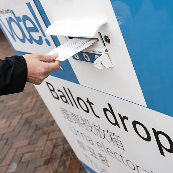 Ballot drop box king county vote elections pkgzfz