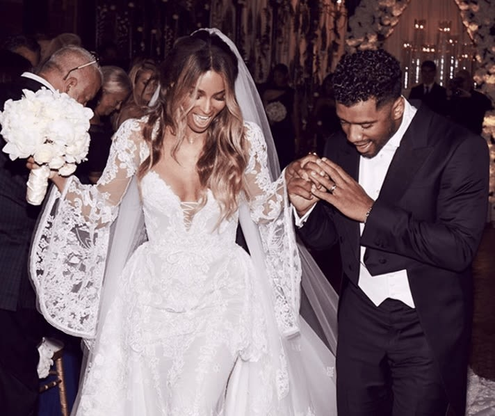 Ciara and russell wilson tie the knot  1  rpvj5i