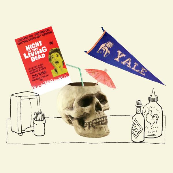 Skull drink illo wfwapq