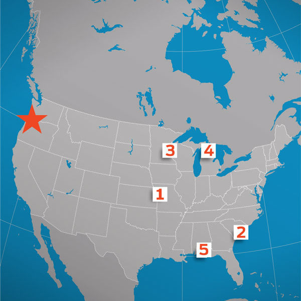 Us map food cities al9zlt