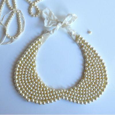 Pearl collar necklace fs9f2k