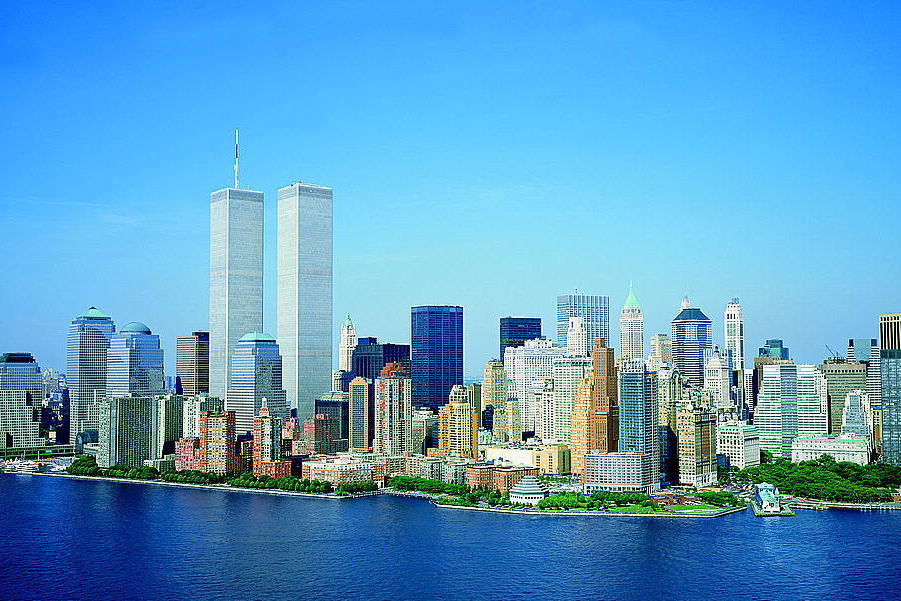 Loc lower manhattan new york city world trade center august 2001 amlqo1