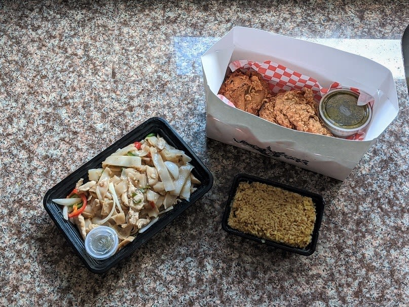 Takeout food from Street to Kitchen in Houston.