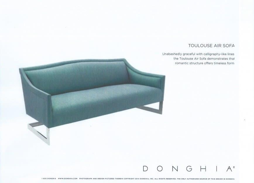 Donghia toulouse air sofa ypa7ao