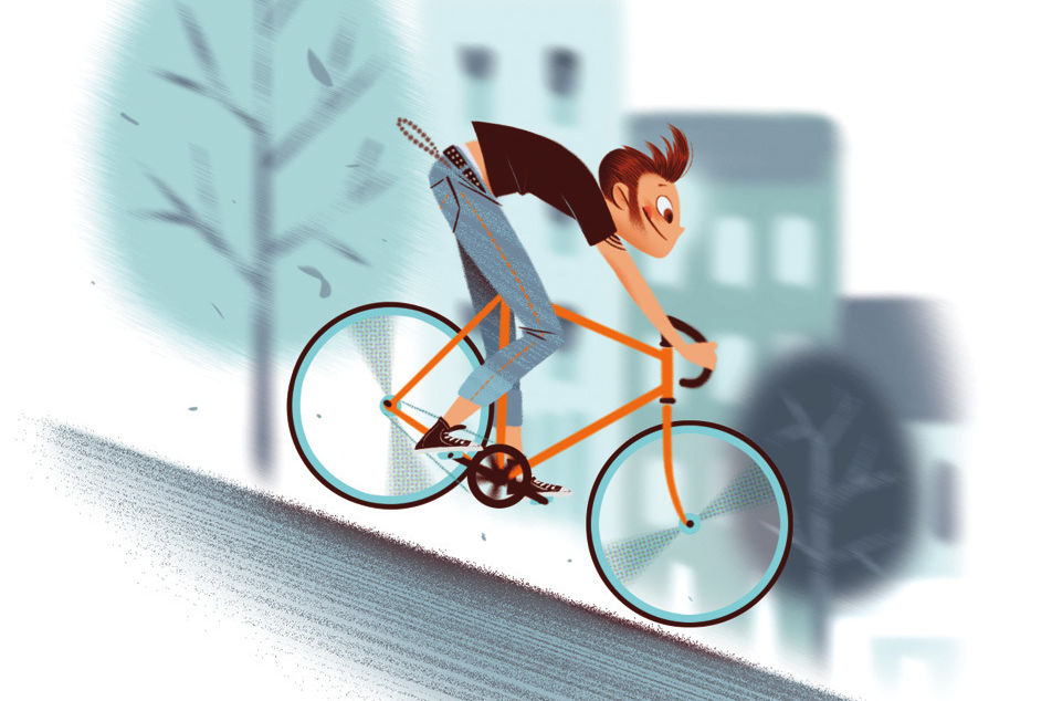 Seattle biker illustration myliil