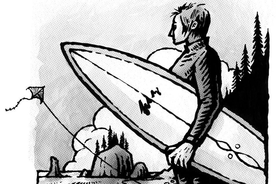 Surfer kite illustration islcbl