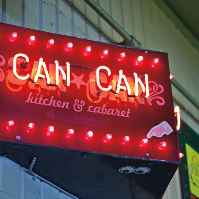 Can can cabaret sign pike place market hu54es