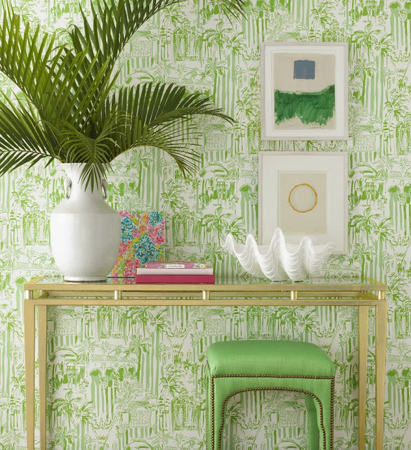 Lilly pulitzer wallpaper lee jofa ngdfey