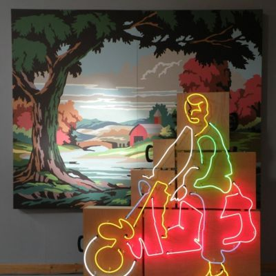 America the beautiful 2008 neon wood paint 91x85x26 898x1024 ujhy3o m06ofc