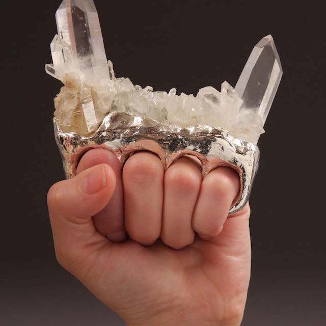 Baxter debra   devil horns crystal brass knuckles   protective  tacoma yorppl