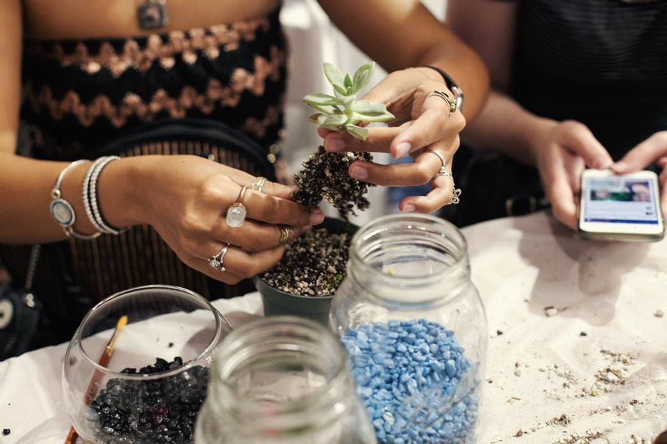 Terrarium building workshop courtesy of pop shop america hi5nhq