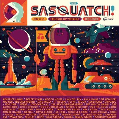 Sasquatch 2015 poster reehqk