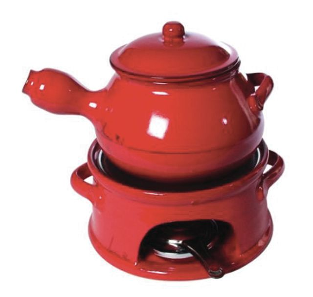 Park city winter 2013 dining fondue pot big red d6asvf