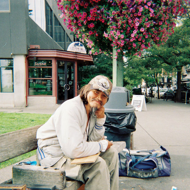 John on a bench aug 30 ylb991