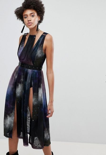 Asos x star wars galaxy dress qosybb