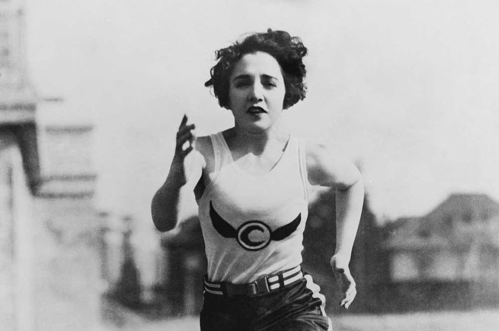 Vintage running woman acfm7s