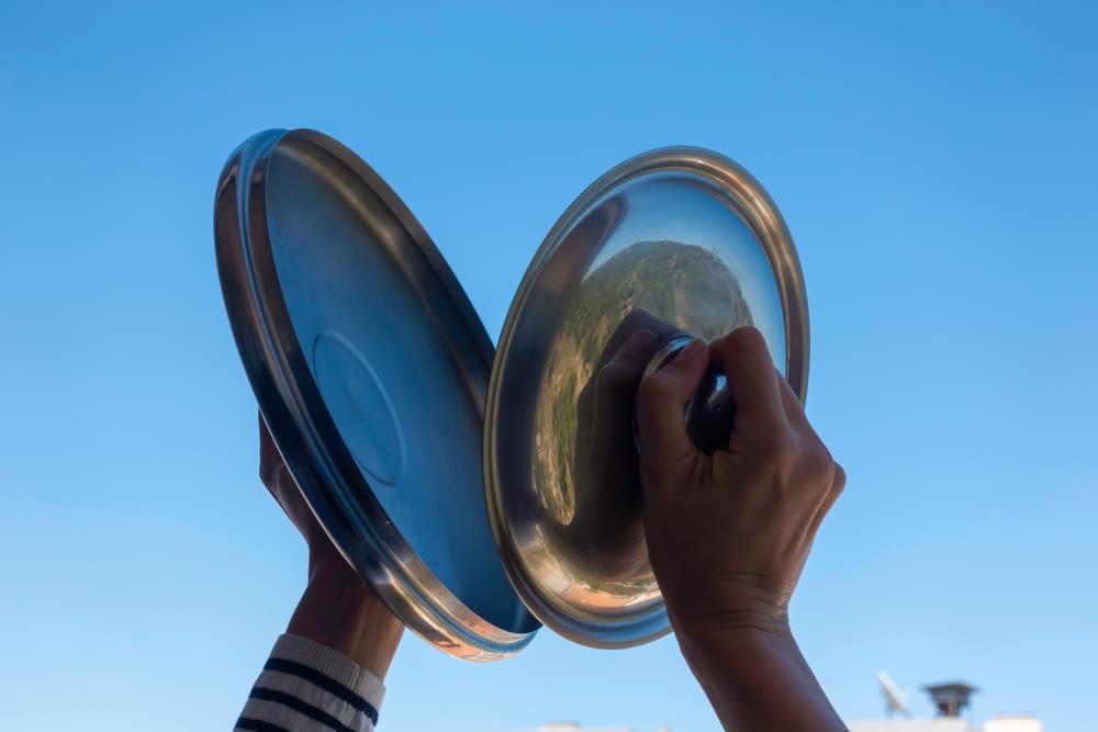 banging kitchenware