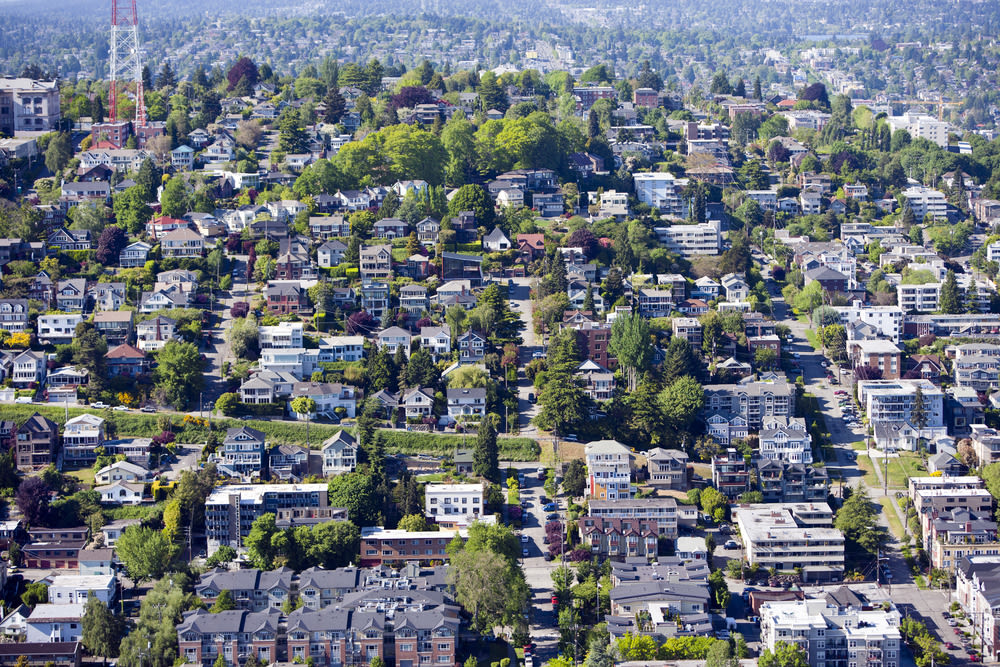 Space Needle view of homes