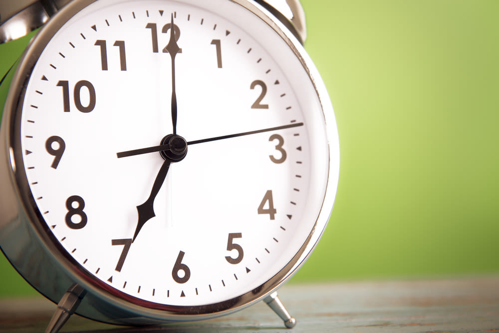 Daylight savings time ends Sunday, Nov. 1.