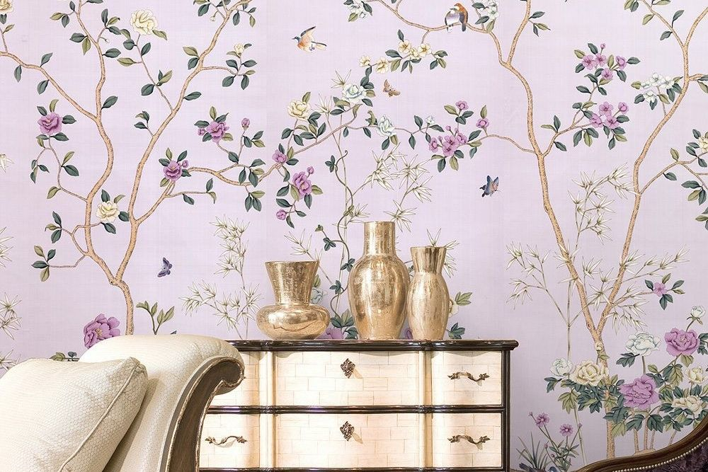 Marcia norris hand painted wallpaper zpr0qy