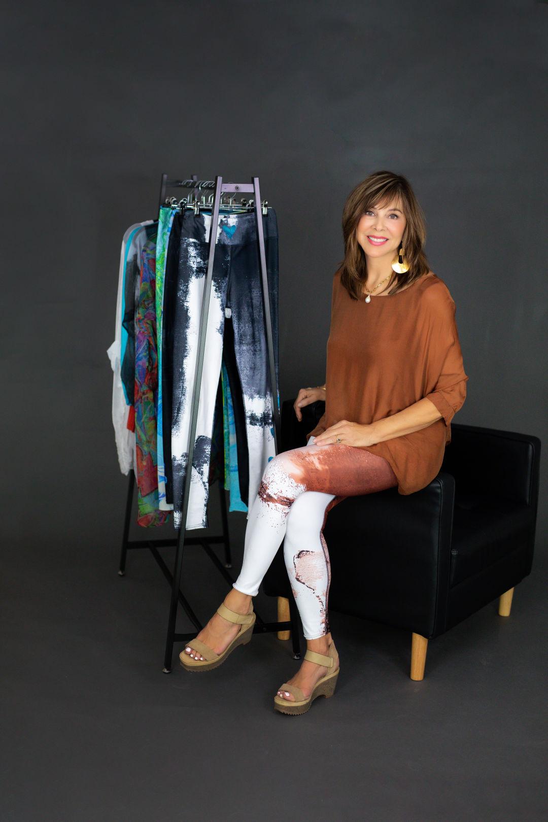 Debbie Dannheisser with her designs