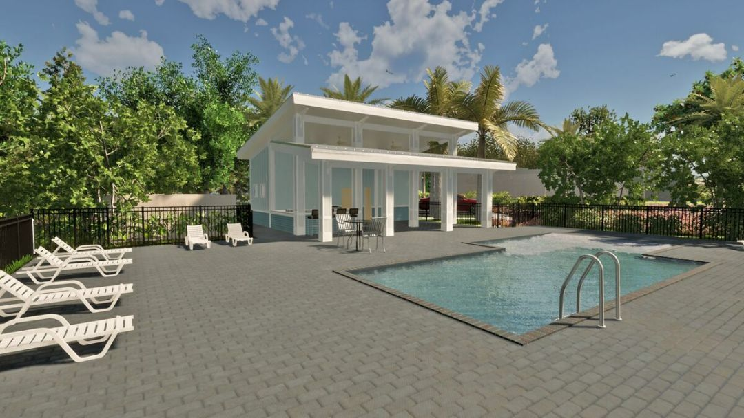 A rendering of the pool at M/I Homes' Sienna Park at University.