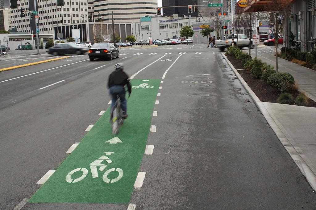 Seattle bike lane enhvwj