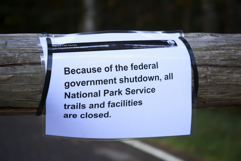 Government shutdown begins and so does the finger-pointing