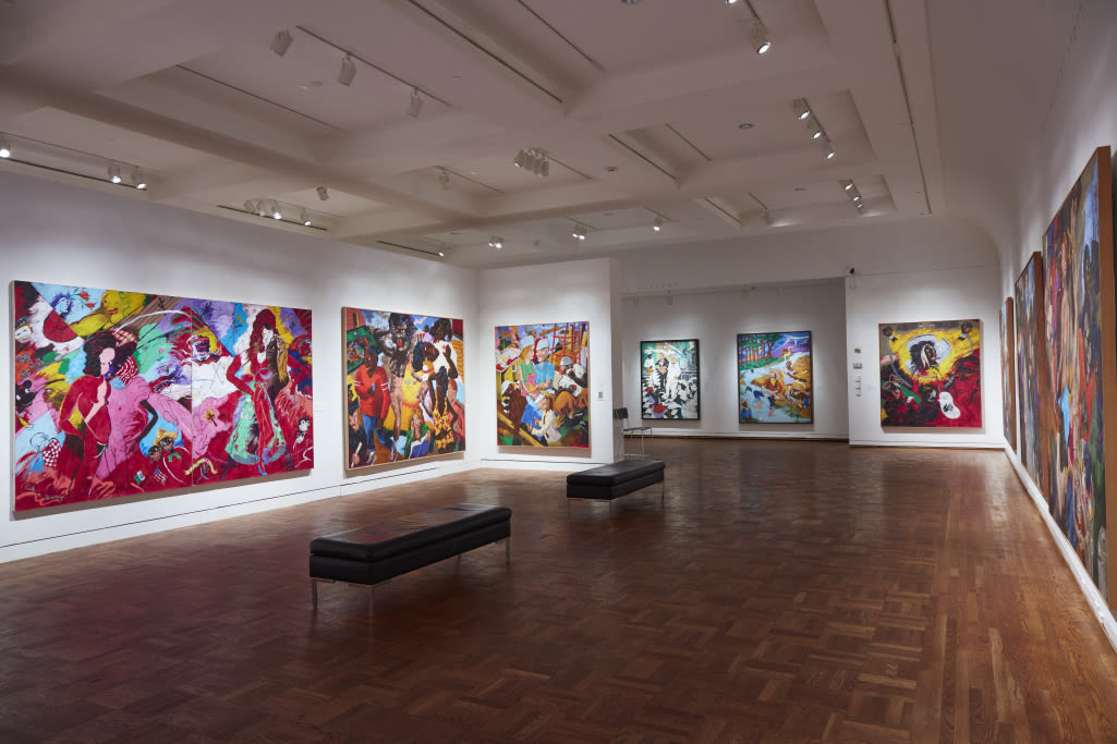 View of the Art and Race Matters: The Career of Robert Colescott exhibit inside the Portland Art Museum