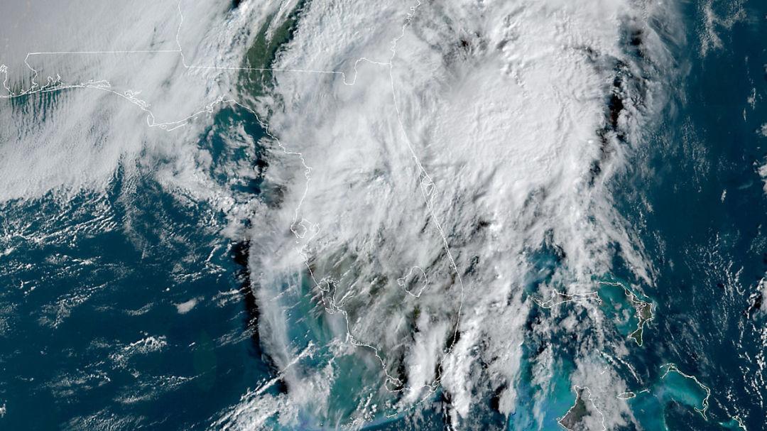 Tropical Storm Eta moves over the Florida peninsula on Thursday morning.