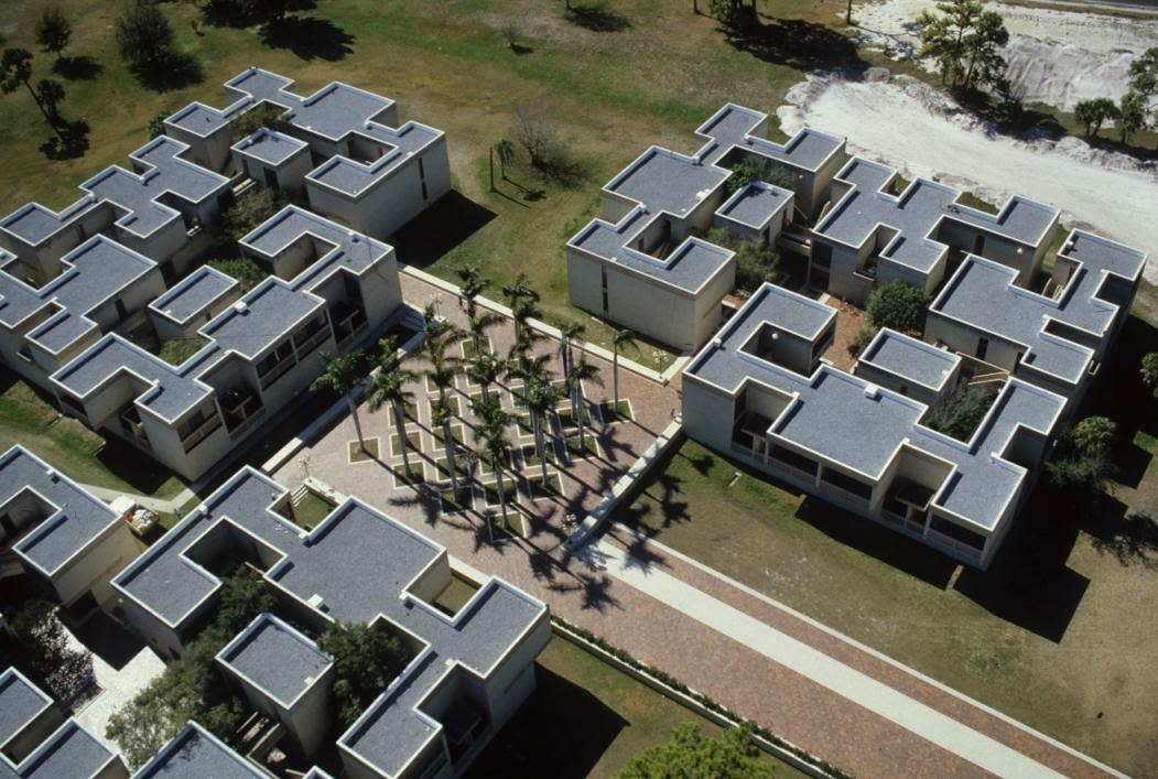 The I.M. Pei-designed dormitories on the New College of Florida campus.