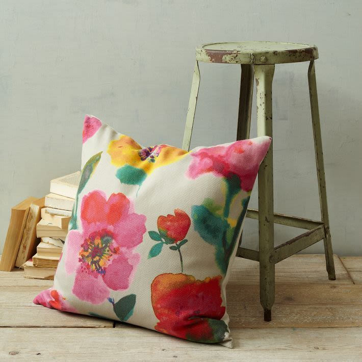 Cancun floral pillow cover   west elm qbspah